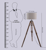 Ethnic Roots Sheesham Wood And Beige Color Tripod Floor Lamp
