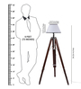 Ethnic Roots Mango Wood And White Color Tripod Floor Lamp