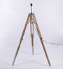 Ethnic Roots Cream Sheesham Wood Tripod Lamp Base