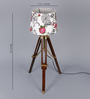 Ethnic Roots White Cotton Table Lamp