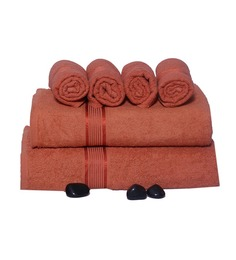 Eurospa Cotton Towel Sets Saffron (Set of 6)