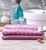 Eurospa Alpine Purple Cotton Bath Towel - Set of 2
