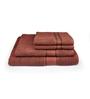 Eurospa Brown 100% Cotton Bath and Hand Towel - Set of 4