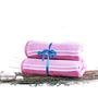 Eurospa Velour Purple Cotton Bath Towel - Set of 2