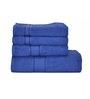 Eurospa Blues Cotton Bath, Hand Towels - Set of 4