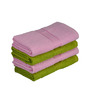 Eurospa Green & Pink Cotton 24 x 16 Paradise Hand Towel - Set of 4