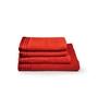 Eurospa Orange 100% Cotton Bath and Hand Towel - Set of 4