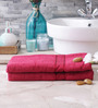 Eurospa Paradise Red Cotton Bath Towel - Set of 2