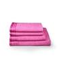 Eurospa Pink 100% Cotton Bath and Hand Towel - Set of 4