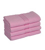 Eurospa Pink Cotton 24 x 16 Paradise Hand Towels - Set of 4