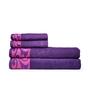 Eurospa Purple 100% Cotton Bath and Hand Towel - Set of 4