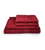 Eurospa Red 100% Cotton Bath and Hand Towel - Set of 4
