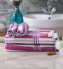 Eurospa Velour Purple Cotton Towel Sets - Set of 4