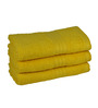 Eurospa Yellow Cotton 24 x 16 Inches Port Hand Towels - Set of 3