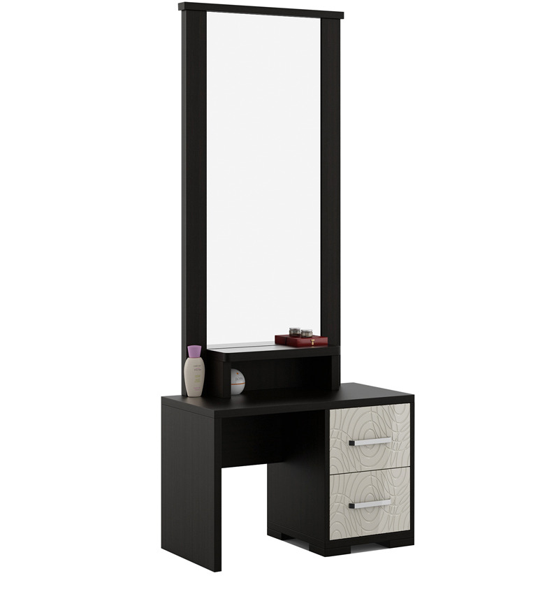 evon dressing table with mirror in natural wenge finish by spacewood