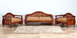 Exeter Two Seater Sofa in Honey Oak Finish by Amberville