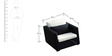 Exotic Sofa Set (3S + 1S + 2 Side Seater) in Black Colour by GEBE