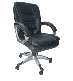 Executive Black Medium Back Executive Office Chair by Adiko Systems
