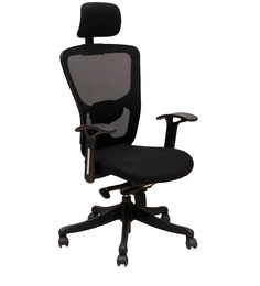 Executive High Back Chair in Black Colour by Geeken