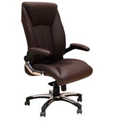 Executive High Back Chair in Brown Colour by Geeken
