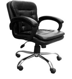 Executive Low Back Office Chair in Black Colour by Adiko Systems