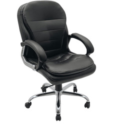 Executive Medium Back Office Chair in Black Colour by Adiko Systems