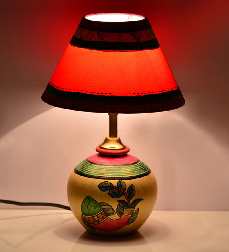 ExclusiveLane Madhubani matki Table Lamp  available at Pepperfry for Rs.1767