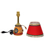 ExclusiveLane Red Polyvinyl Table Lamp