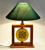 ExclusiveLane Green Polyvinyl Table Lamp