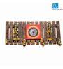 Exclusivelane Brown Mango Wood & Brass Dhokra & Warli Art Handpanited Key Holder with Ghungroo