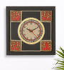 Exclusivelane Black Recycled Wood 11.8 x 11.8 Inch Clock