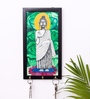 Exclusivelane Multicolour Canvas & Mdf Lord Buddha Hand Painted Key Holder