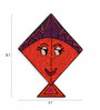 Exclusivelane Multicolour Recycled Wood Hand Painted Kite Fridge Magnet - Set of 2