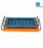 ExclusiveLane Blue and Orange Wood Serving Tray - Set of 2