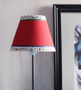 ExclusiveLane Red Canvas Tribal Art Lamp Shade