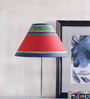 ExclusiveLane Red Cloth Abstract Art Lamp Shade