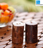ExclusiveLane Set Of 2 Wooden Handcrafted Salt and Pepper Shaker In Natural Brown