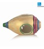 Exclusivelane Multicolour Terracotta Shankh Shaped Tea Light Holder