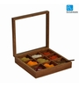ExclusiveLane Brown Sheesham Wood 2000 ML Spice Box