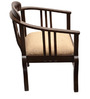 ExclusiveLane Teak Wood Living Room Chair In Walnut Finish