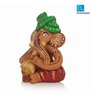 Exclusivelane Musical Ganesha Idols Multicolour Terracotta Hand Crafted Statue