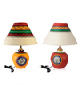 Exclusivelane White Cloth Table Lamps - Set of 2
