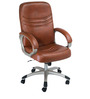 Executive Medium Back Office Chair in Brown Colour by Adiko Systems