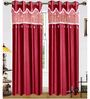 Exporthub Pink Polyester 84 x 48 Inch Solid Eyelet Door Curtain - Set of 2