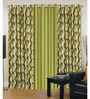 Exporthub Multicolour Polyester 84 x 48 Inch Abstract Eyelet Door Curtain - Set of 3