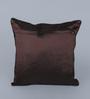 Eyda Choco Polyester 16 x 16 Inch Multi Sequin Velvet Cushion Cover