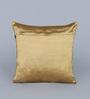 Eyda Choco Polyester 16 x 16 Inch New Pleat Cushion Cover