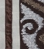 Eyda Chocolate Polyester Queen Size Bed Cover - Set of 5