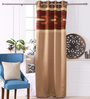 Eyda Gold Polyester 53 x 84 Inch New Pleat Black Out Door Curtains - Set of 2