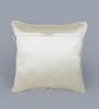 Eyda Mehroom Polyester 16 x 16 Inch Aari Sequin Cushion Cover